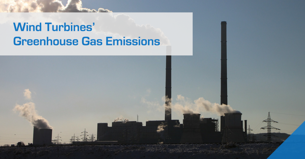 How do wind energy's greenhouse gas emissions compare to other energy generation methods?