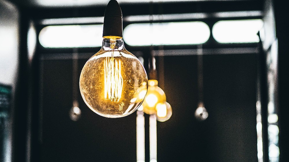 A bright lightbulb powered by wind energy