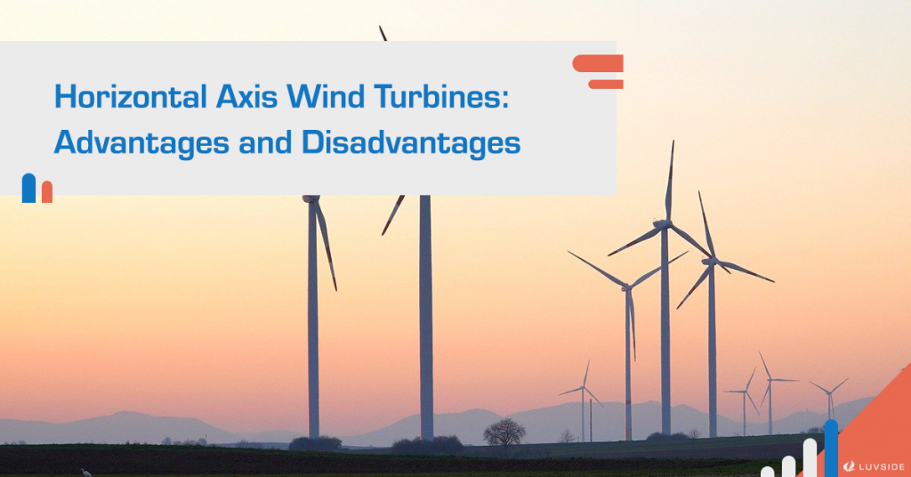 What are the advantages and disadvantages of horizontal axis wind turbines (HAWT)?