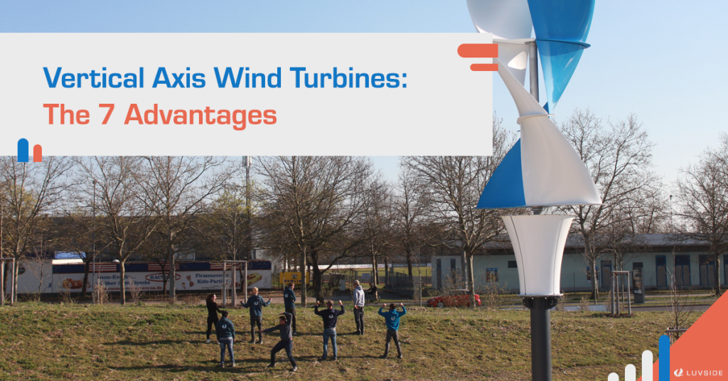 In picture: LS Helix 3.0 Savonius vertical axis wind turbine and our proud LuvSide Team!